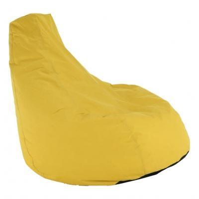 Babzsákfotel, csepp alakú, sárga - CHARME